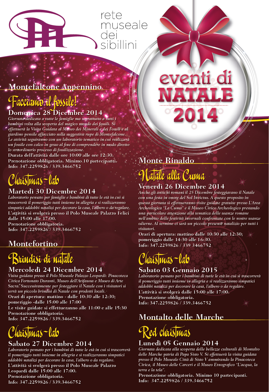 Eventi Di Natale.Eventi Di Natale 2014 D P Turismo E Cultura